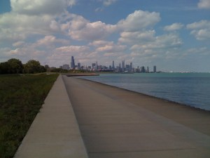 Chicago skyline from 31st beach