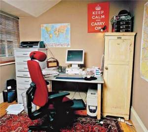 Sarah Waters' (Fingersmith, The Night Watch) writing room