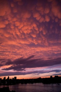 'Mammatus clouds over Manhattan' by bears rock on flickr