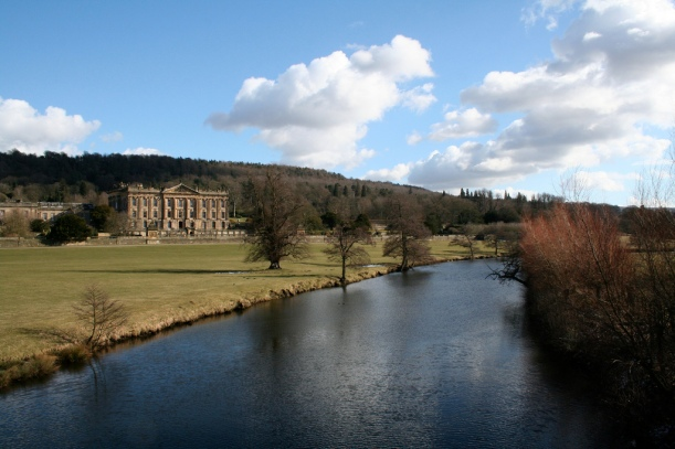 View of Chatsworth from the River Derwent