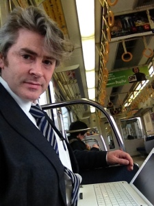 """Bashing the elderly and infirm with my laptop bag usually secures me a seat,"" says David."