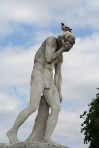 Very sad statue in Paris